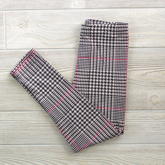 Girls Buttery Houndstooth Leggings