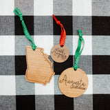 Wooden City Ornament/Gift Tag