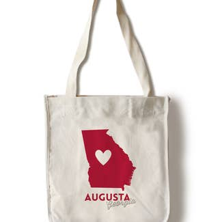Aug GA State Tote Bag - Shoppe3130