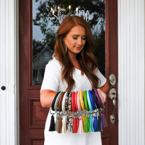 Leather Keyring Bangles - Shoppe3130