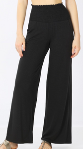 Smocked Waistband Lounge Pants - Shoppe3130