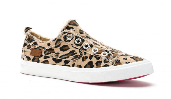 Girls Babalu Leopard Sneakers - Shoppe3130