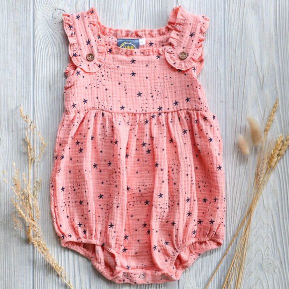 Coral Stars Baby Romper