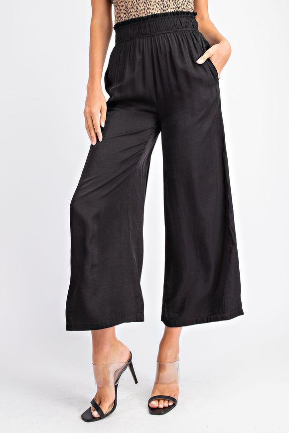 All Dressed Up Black Wide Leg Pants