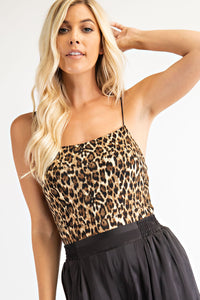 Taupe Leopard Body Suit