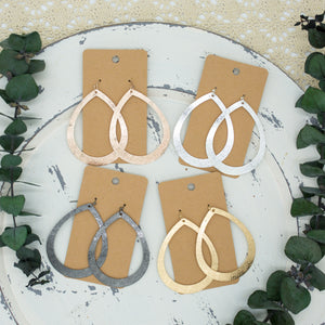 Cutout Teardrop Metal Earrings - Shoppe3130