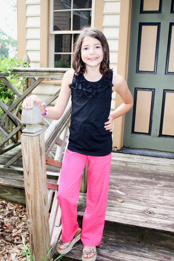 Fold Over Linen Pants - Shoppe3130