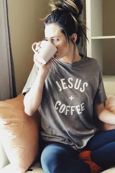 Jesus and Coffee Graphic Tee