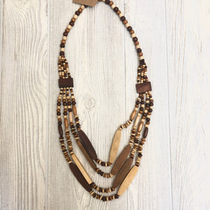 Wooden Statement Necklace - Shoppe3130