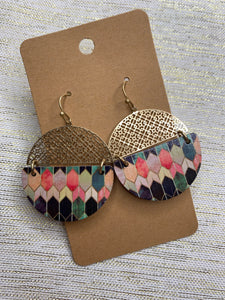 Circle Tile Earrings - Shoppe3130