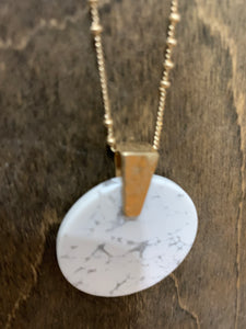 White Marble Necklace - Shoppe3130