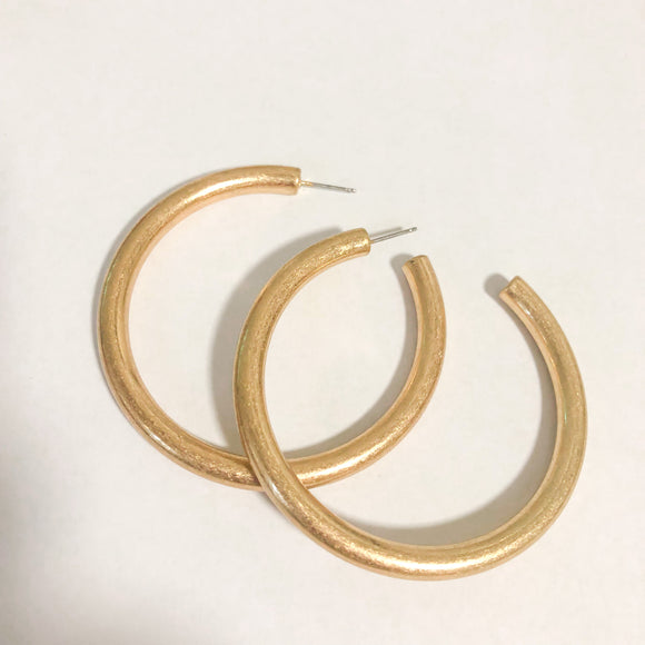Worn Gold Hoop Earrings