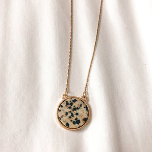 "Speckled Worn Gold 16"" Necklace"