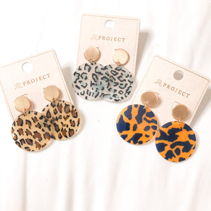 Amber Leopard Acrylic Earrings