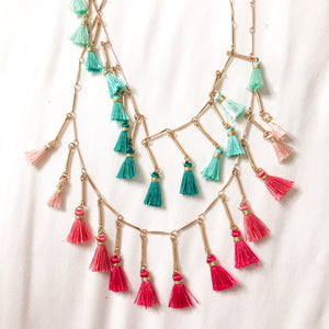 Girls Multi Tassel Necklace