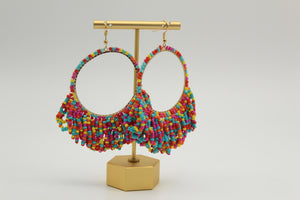 Multi Loopy Seed Bead Earrings - Shoppe3130