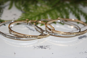 Classic Say It So Thin Bracelets - Shoppe3130