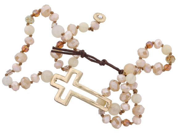 Cross Wrap Bracelet - Cream - Shoppe3130