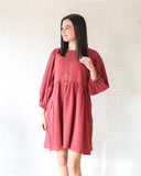 Rowen Red Babydoll Dress