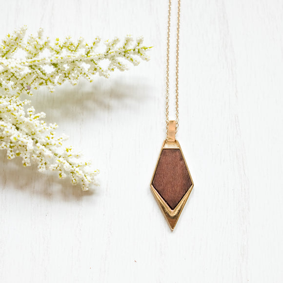 Bella Wooden Necklace - Shoppe3130