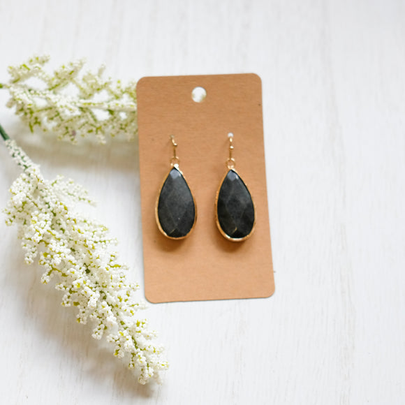 Deep Teal Teardrop Earrings - Shoppe3130