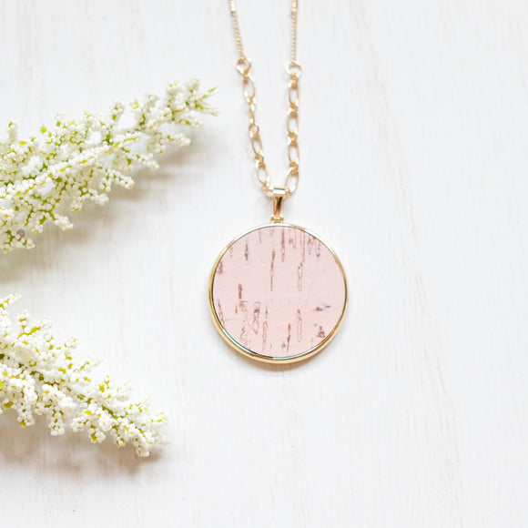 Pink Distressed Necklace