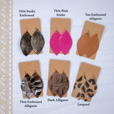 Genuine Leather Earrings - Leaf