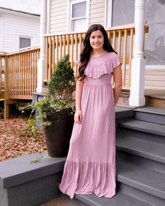Mauve Striped Maxi - Shoppe3130