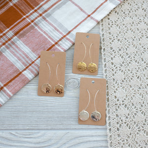 Drop Circle Metal Earrings - Shoppe3130