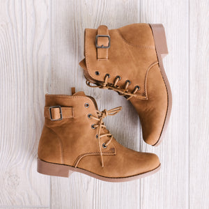 Lace Up Booties - Shoppe3130