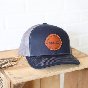 NAUG North Augusta South Carolina Leather Patch Hat
