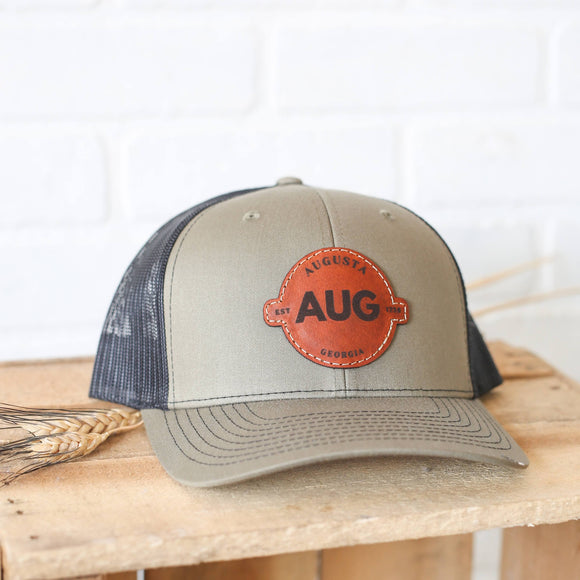 AUG Augusta Georgia Leather Patch Hat