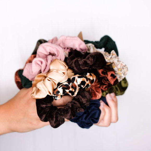 Assorted Fall/Winter Scrunchie Set of 3