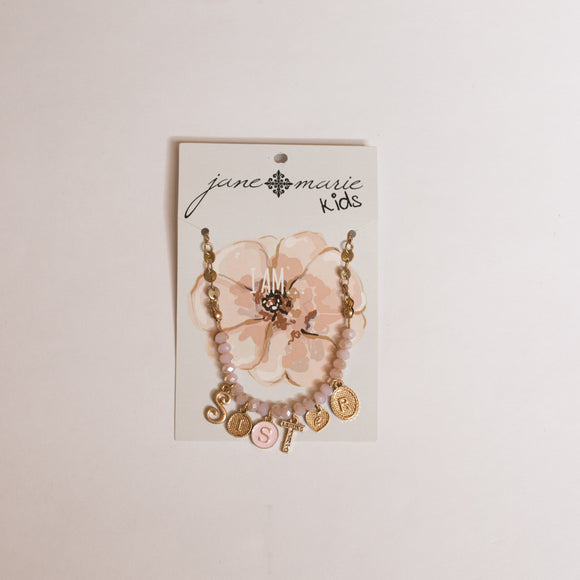 Girls Sister Necklace - Jane Marie - Shoppe3130