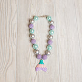 Girls Big Beaded Necklace - Shoppe3130