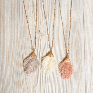 Kids Mini Hammered Tassel Necklace - Shoppe3130