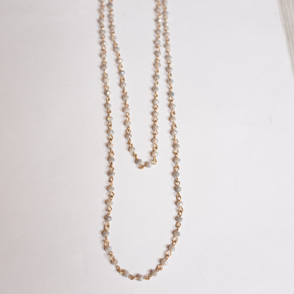 Double Beaded Chain Necklace - More Colors