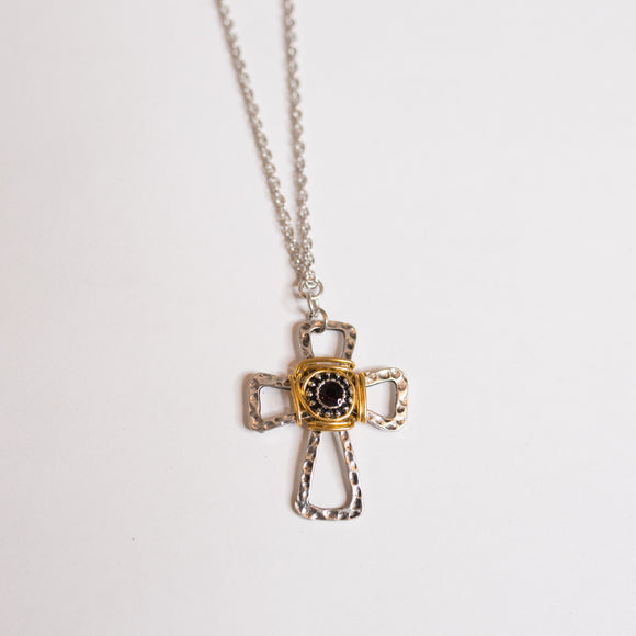 Wire Wrapped Cross Necklace - Shoppe3130