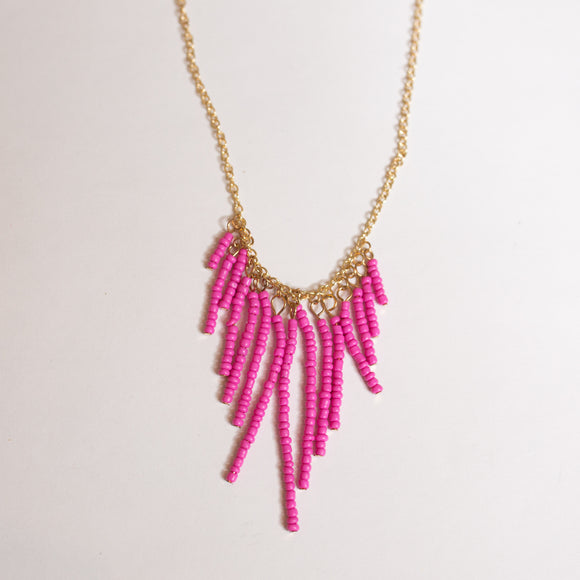 Seed Bead Drop Necklace- More Colors - Shoppe3130