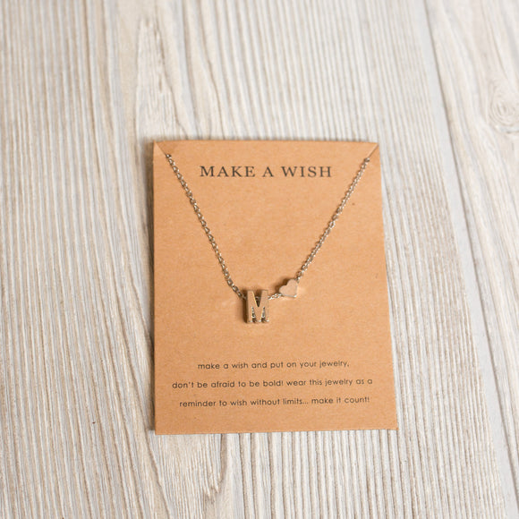 Silver Initial Necklace - Shoppe3130