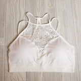 High Neck Lace Bralette - Shoppe3130