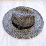 Faux Leather Straw Hat - Shoppe3130
