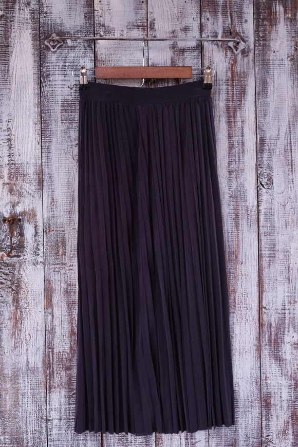 Charcoal Pleated Skirt - Shoppe3130