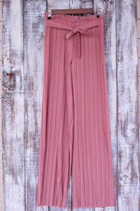 Mauve Pleated Pants - Shoppe3130