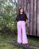 Pink High Waisted Wide Leg Trousers - Shoppe3130