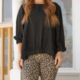 She And Sky Black Crush Top - Shoppe3130