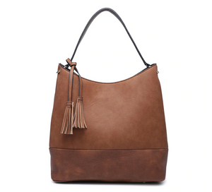 Two Tone Hobo Handbag - Shoppe3130