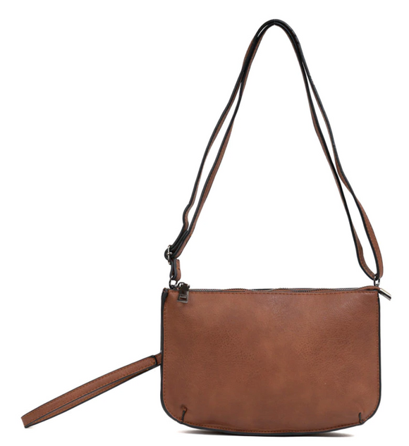 Vegan Two Compartment Crossbody/clutch - Shoppe3130