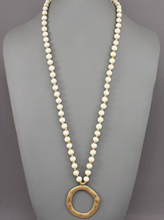 Beaded Circle Necklace - Shoppe3130