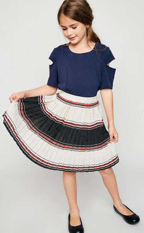 Hayden Girls Printed A-line Pleated Skirt - Shoppe3130
